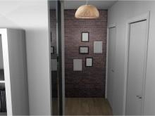 Décoration moderne d'une entrée / couloir