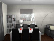 Décoration salle à manger contemporaine