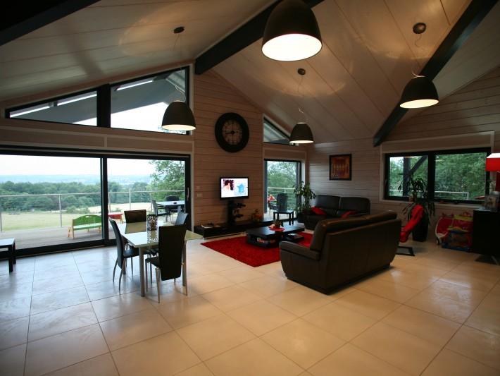 construction maison ossature bois guillaumie d coration salon moderne id. Black Bedroom Furniture Sets. Home Design Ideas
