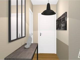 Décoration sobre couloir