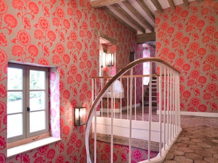 Décoration vintage rose motifs floraux