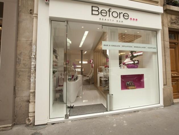 Agencement institut de beaut before beauty bar galaktik for Devanture salon de coiffure
