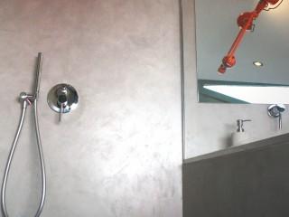 Douche à l'italienne béton ciré