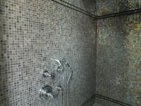 Douche et Hammam avec mosaïque en platine