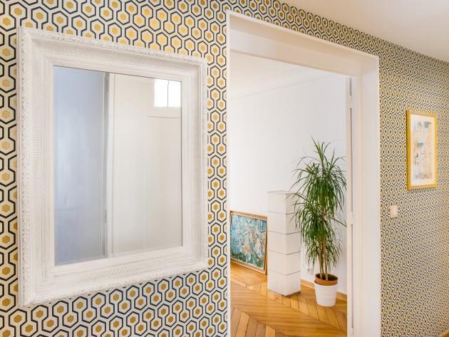 r novation appartement haussmannien entr e id. Black Bedroom Furniture Sets. Home Design Ideas