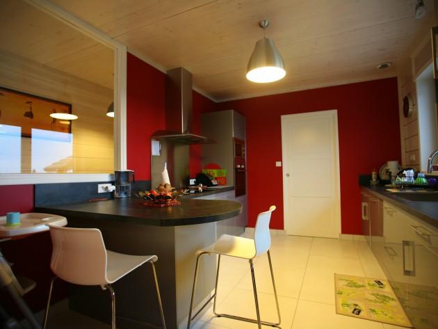 construction maison ossature bois guillaumie equipement cuisine id. Black Bedroom Furniture Sets. Home Design Ideas