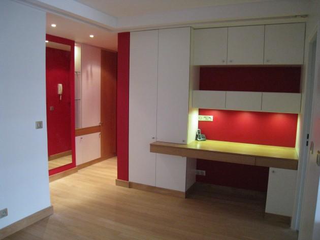 R novation appartement mise en sc ne m espace bureau for Rangement salle a manger