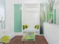 Espace salon, chambre, dressing et douche