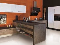 Etagère encastré dans meuble de cuisine