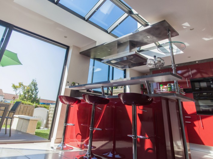 V randa toiture plate grandeur nature extension veranda cuisine id for Grandeur de fenetre
