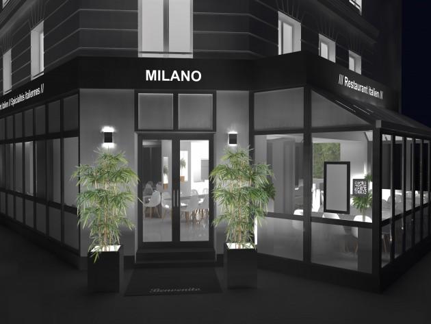 Façade du restaurant Milano