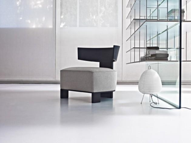 Canap s sofas clipper molteni c dada fauteuil moderne noir avec son coussin rembourr en - Moderne fauteuil ...