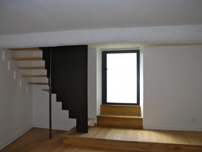 r novation int rieure christine clav re fen tre pvc noir ouverture la fran aise. Black Bedroom Furniture Sets. Home Design Ideas