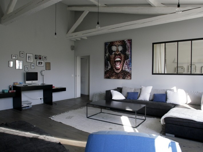 Grand séjour style loft