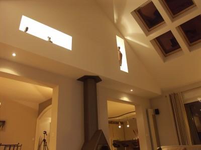 Salon salle manger gris photo salon salle manger gris pag - Hauteur sous plafond maison ...