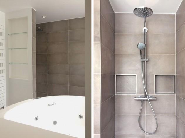 La baignoire bal-néo et la douche à l'intalienne