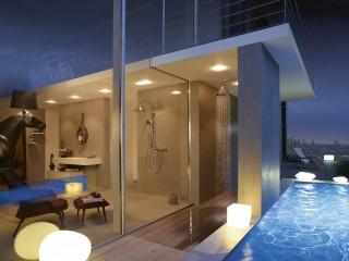 LampShower pour piscine extérieur