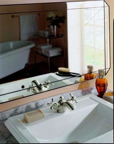 salle de bains vintage beige photo id. Black Bedroom Furniture Sets. Home Design Ideas