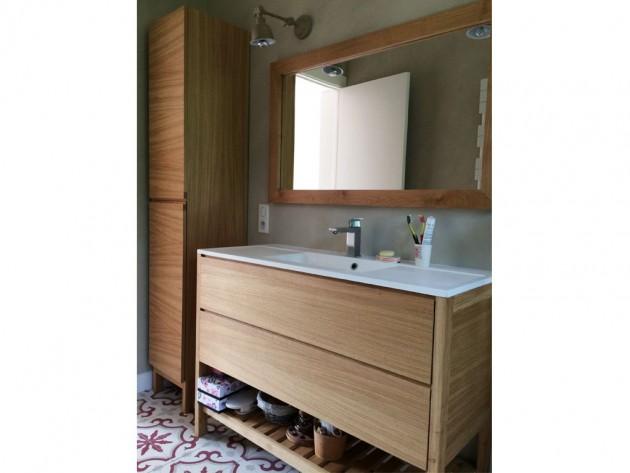 Les meubles de la salle de bains