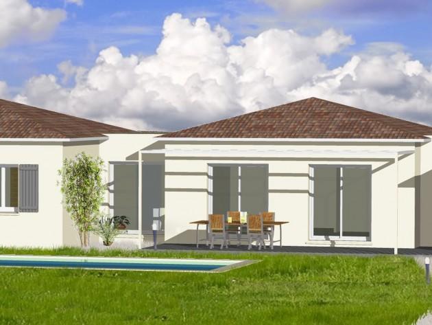 Exemple r alisations plain pied maison contemporaine for Maison moderne electricite