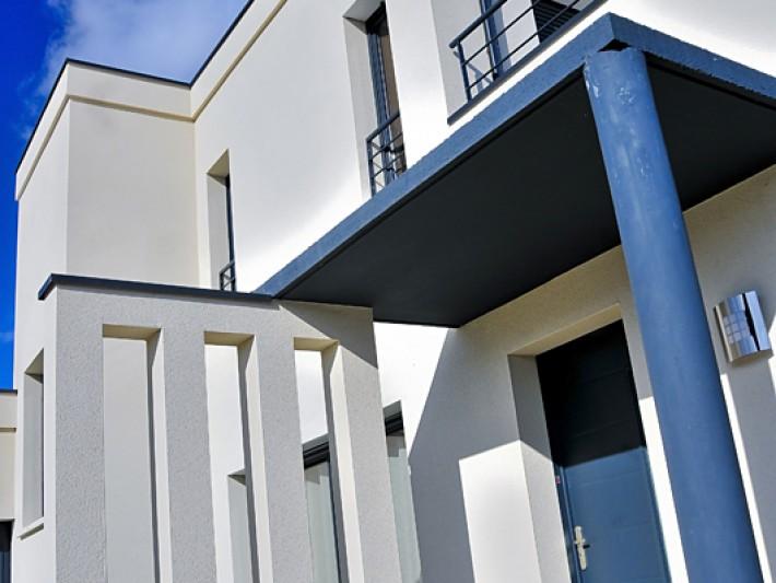 Maison d'architecte contemporaine - Vue sur l'entrée