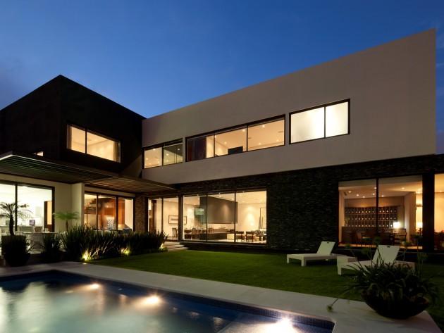 Maison de luxe tec glr arquitectos maison en l for Maison en l