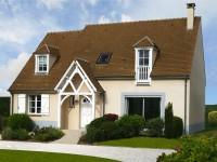 Maison individuelle d'architecture classique avec petit porche