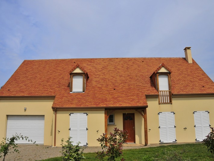 Maison individuelle, vue sur la façade