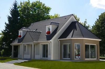 Maison traditionnelle avec extension