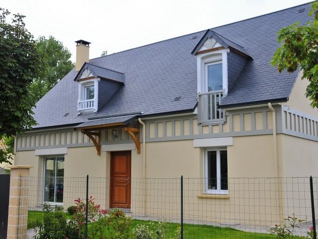 Maison traditionnelle avec pans de bois