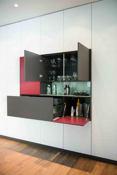 Salon Loft  Schmidt  Idéesmaisoncom -> Meuble Cuisine Avec Bar Integre