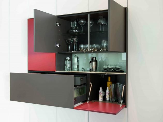 Salon Loft  Schmidt  Meuble avec bar intégré  Idéesmaisoncom -> Meuble Cuisine Avec Bar Integre