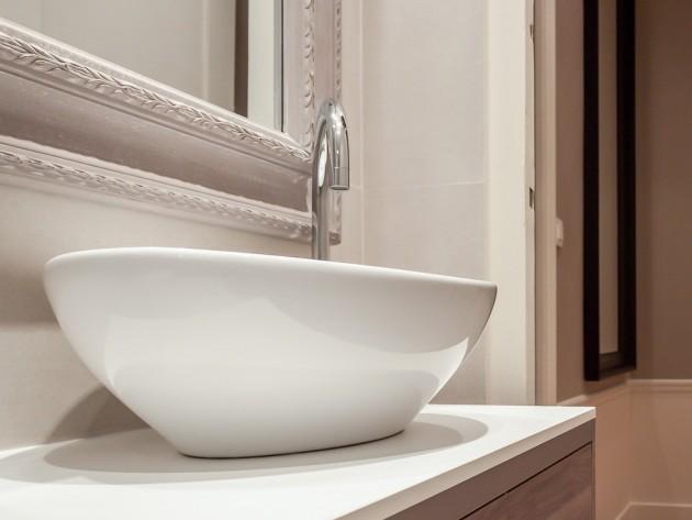 Meuble de lavabo, vasque contemporaine
