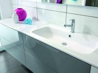 Meuble de salle de bain avec lavabo encastré