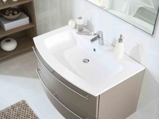 Meuble de salle de bain marron glacé