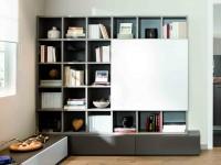 Meuble de télévision moderne avec espace de rangement