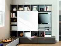 Meuble de télévision moderne avec espaces de rangements