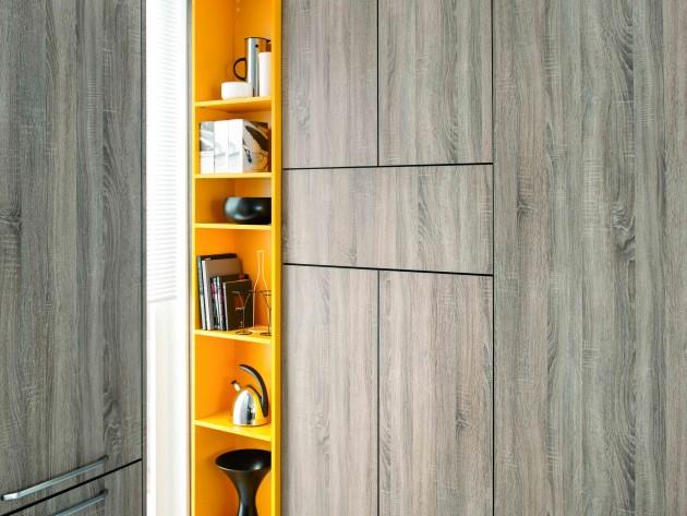 Meuble étagère de rangement de cuisine orange