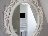 Miroir ancien blanc