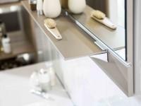 Miroir de salle de bain marron glacé