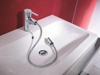 Mitigeur de lavabo avec douchette extractible