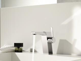 Mitigeur de lavabo cubique
