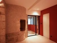 Mur en pierre intérieur