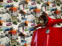 Papier peint aux motifs urbains