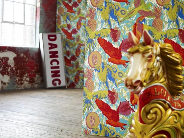 textiles diva prestigious textiles papier peint d coratif id. Black Bedroom Furniture Sets. Home Design Ideas