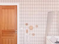Papier peint losange de la chambre de bébé