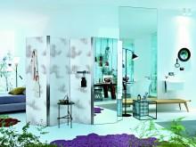 Paravent avec miroir intégrée