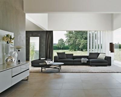Petite table basse en chêne gris avec canapé assorti