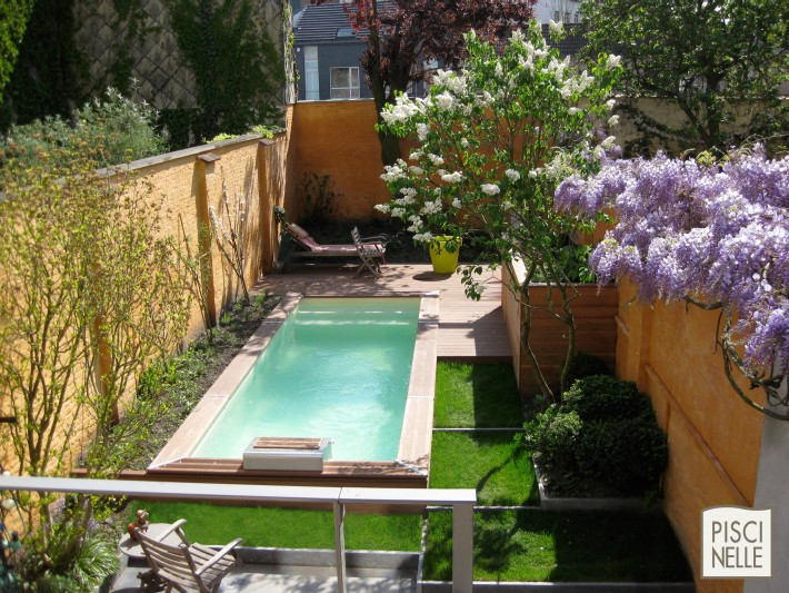 piscine rectangulaire cr piscinelle piscine jardin. Black Bedroom Furniture Sets. Home Design Ideas