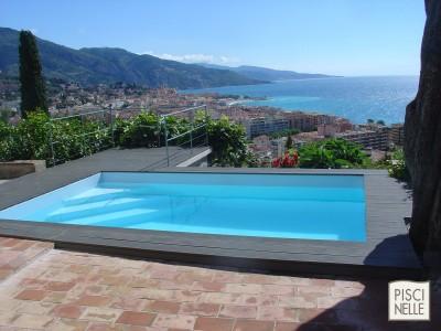 piscine contemporaine grise photo id. Black Bedroom Furniture Sets. Home Design Ideas